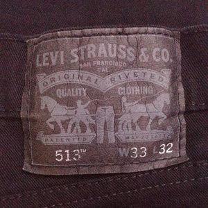 Levi Strauss & Co 513 jeans 33x32